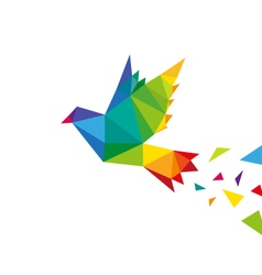Bird abstract triangle design vector