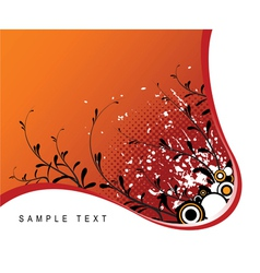 abstract grunge floral vector image vector image
