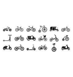 bike icon set simple style vector image