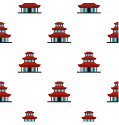 Buddhist temple pattern flat vector