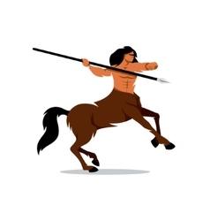 Centaur Warrior Cartoon vector image