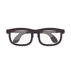 Closed glasses with contour black vector
