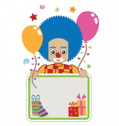 clown party card vector image vector image