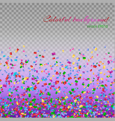 colorful confetti particles vector image