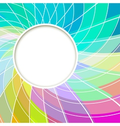 Creative Abstract Digital Light Flower vector image vector image