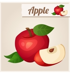 Detailed Icon Red apple vector image
