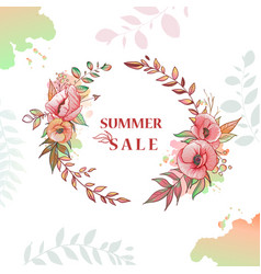 flower wreath sale vector image vector image