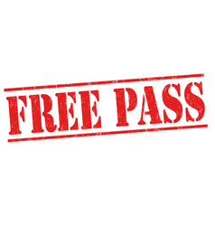 Free pass sign or stamp vector