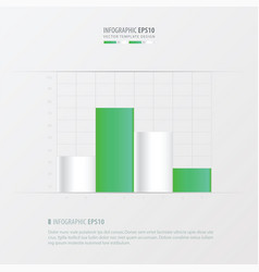Graph and infographic design vector