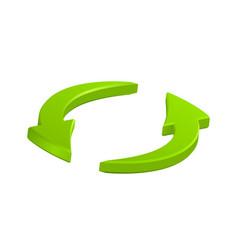 Green circular arrows icon symbol eps10 vector