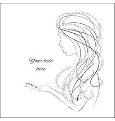 Hand drawn sketch of woman vector image vector image
