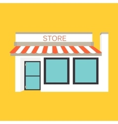 Icon detailed shop market vector