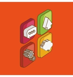 Icon of isometric technology design vector