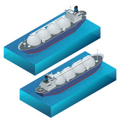 isometric gas tanker flat vector image
