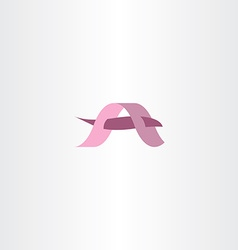 Logotype a pink icon logo a vector
