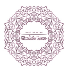 Mandala with floral decorative element vector