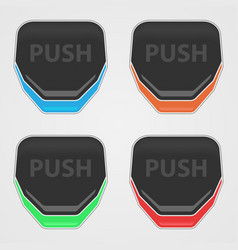 push buttons color vector image