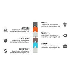 Puzzle timeline infographic diagram chart vector