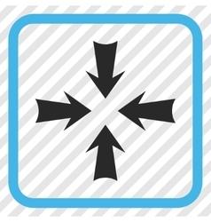 Reduce arrows icon in a frame vector