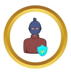 Robbery insurance icon vector