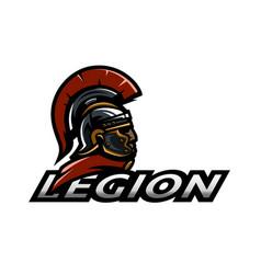 roman legionnaire logo vector image vector image