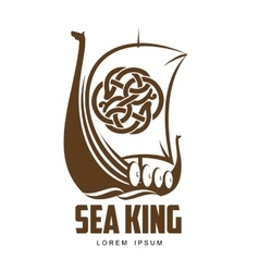 ship Viking logo vector image