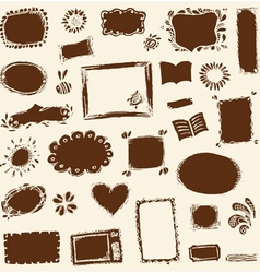 Sketch of frames hand drawing for your design vector image vector image