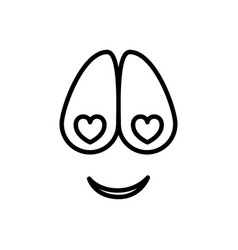 Sketch silhouette emoticon crazy in love vector