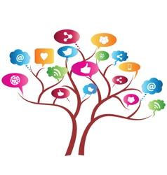 Social Network Tree vector image vector image