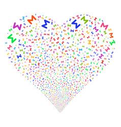 Sum fireworks heart vector