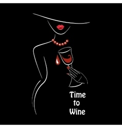 time to wine vector image