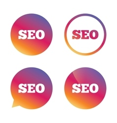 Seo sign icon search engine optimization symbol vector