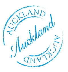Auckland rubber stamp vector image