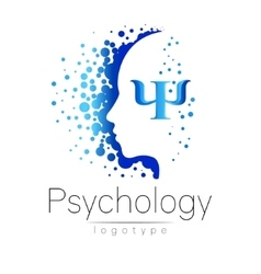 Modern head logo of Psychology Profile Human vector image