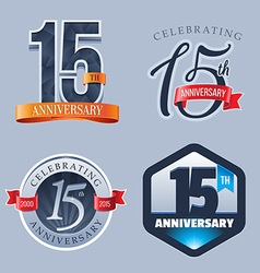 15 years anniversary logo vector