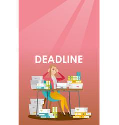 Businessman has a problem with a deadline vector