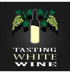 Tasting White Wine poster vector image