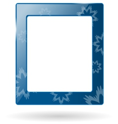 Glassy frame with snowflakes isolated on white vector