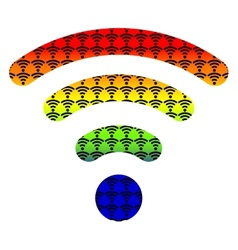 Multi color wifi wireless hotspot internet signal vector