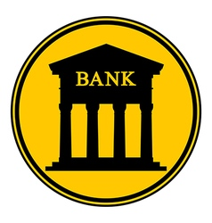 Bank button vector