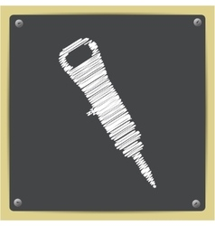 Color flat jackhammer icon vector