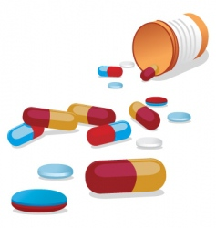 Spilled pills vector