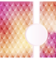 a pink background with triangles vector image