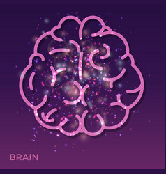 abstract creative brain background - colorful vector image vector image