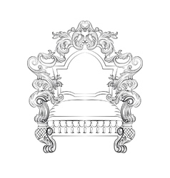 Baroque rococo armchair vector