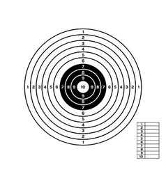 black and white target vector image vector image