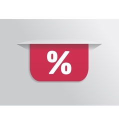 Bookmark sticker label tag with symbol percent vector image