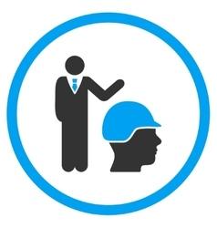 Builder management icon vector