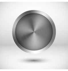 Chrome metallic button vector image