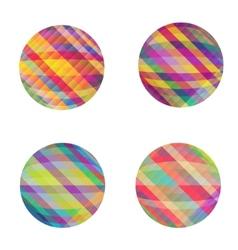 Circles set vector image vector image